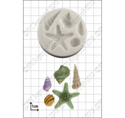 FPC Starfish & shells Silicone Moulds