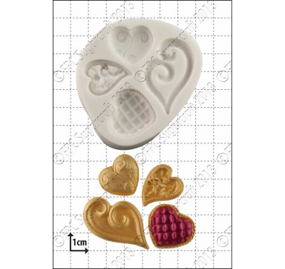 FPC Fancy Hearts Silicone Mould