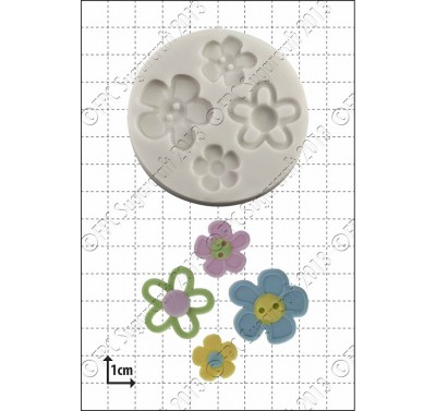FPC Flower Buttons Silicone Mould