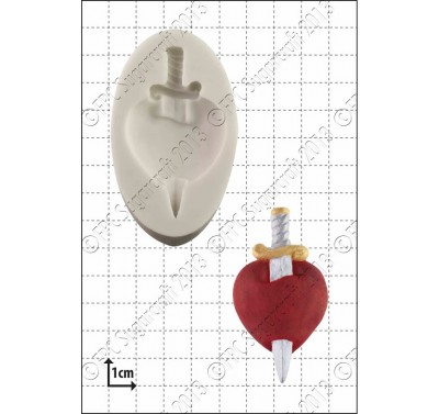 FPC Heart and Dagger Silicone Mould