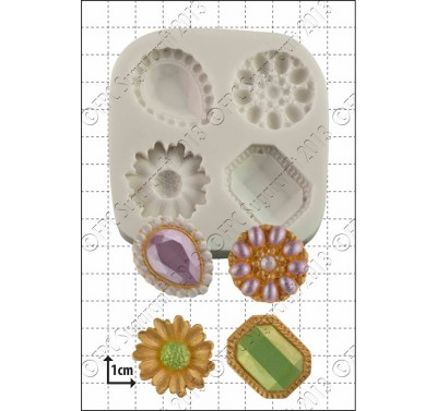 FPC Jewelled Brooches Silicone Mould