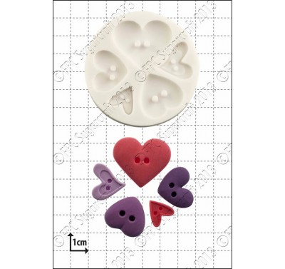 FPC Heart Buttons Silicone Mould
