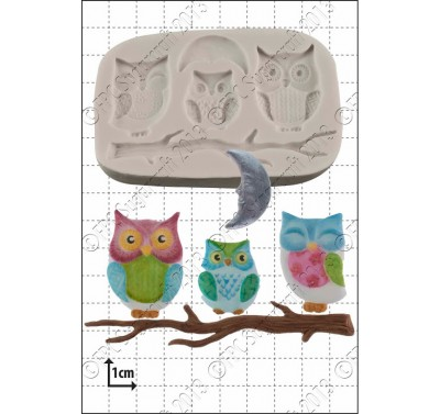 FPC Owl Family Silicone Mould