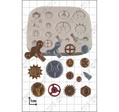 FPC Steam Punk Cogs & Gears Silicone Mould