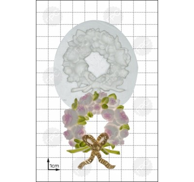 FPC 'Rose Wreath' Silicone Mould