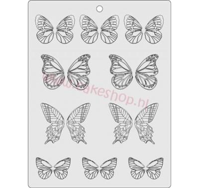 Gelatin Veining Sheet Butterfly Wings