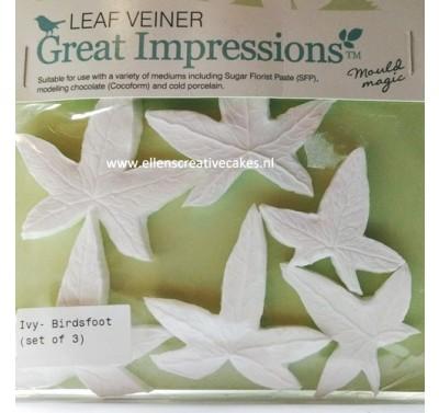 SK Great Impressions Leaf Veiner Ivy - Birdsfoot - Set of 3