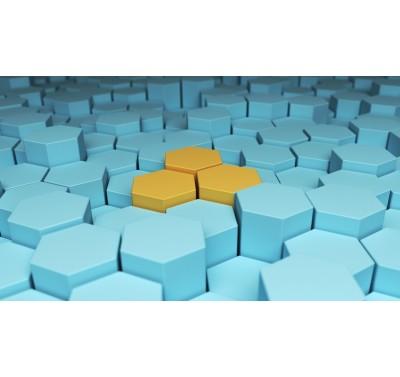 Styropor taart dummy Hexagon 20 cm - 7cm hoog