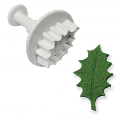 PME Veined Holly Leaf Plunger Cutter M