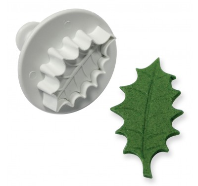 PME Veined Holly Leaf Plunger Cutter L