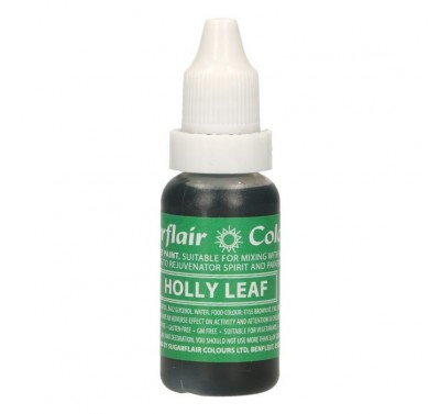 Sugarflair Edible Droplet Paint Holly Leaf Green