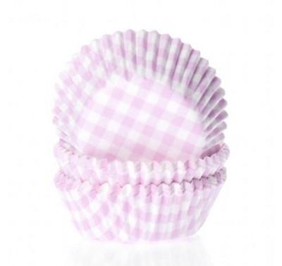 House of Marie Mini Baking cups Ruit Roze - pk/60