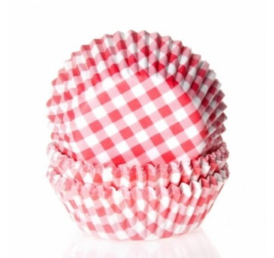 House of Marie Mini Baking cups Ruit Rood - pk/60