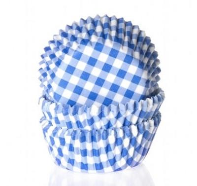 House of Marie Mini Baking cups Ruit Blauw - pk/60