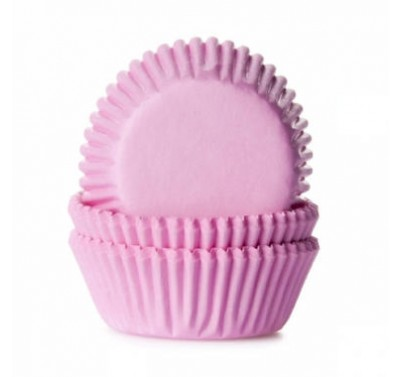 House of Marie Mini Baking cups Licht Roze pk/60