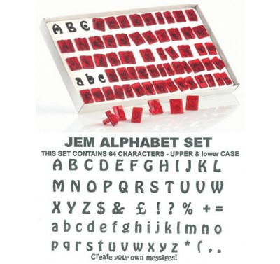 JEM Alphabet Set