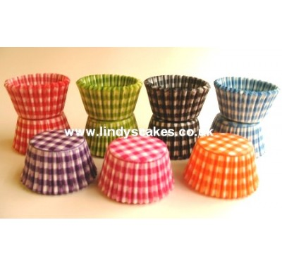 Lindy Smith Baking Cups Gingham Orange