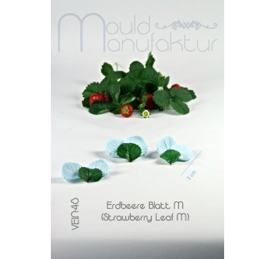 Mould Manufaktur Erdbeere Blatt M Veiner