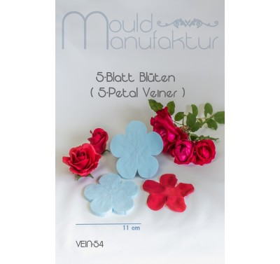 Mould Manufaktur 5-Petal Rose Veiner