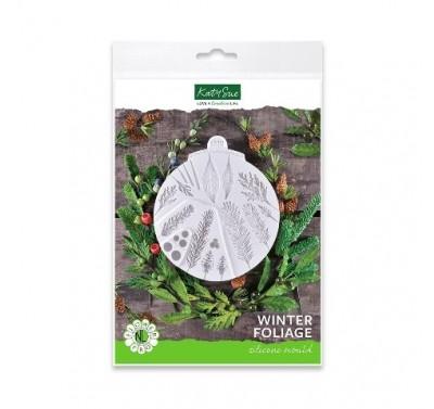 Katy Sue Designs - Flower Pro Winter Foliage Silicone Mould