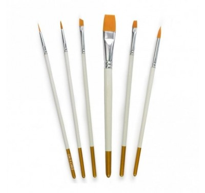 NY CAKE Round & Flat Brush Set of 6