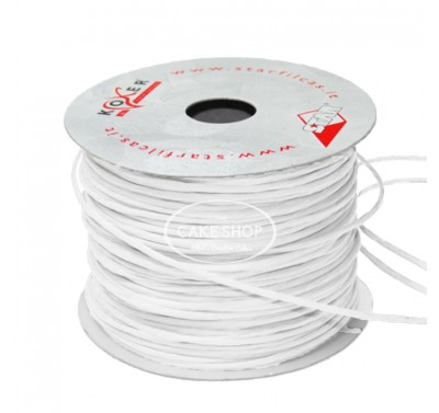 Paper covered wire White