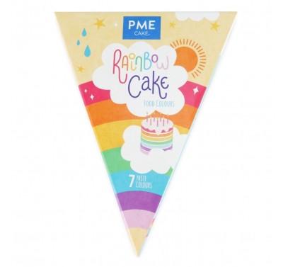 PME Rainbow Cake Food Colours Kit