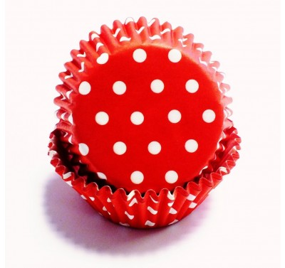 PME Red Polka Dots Standard Baking Cases Pk/60