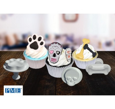 PME Complete Set Paw/Bone/Skull plunger cutters