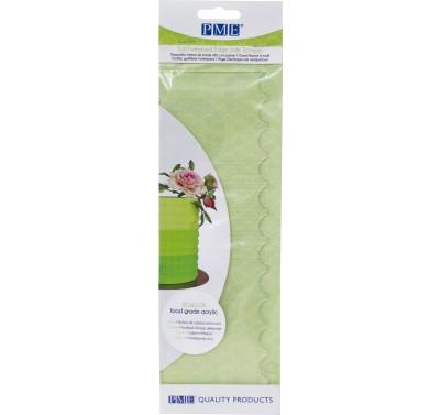 PME Tall Patterned Edge Side Scraper - Scallop