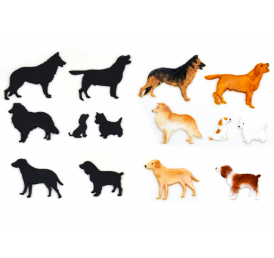 Patchwork Cutters Dog Silhouette Set 1