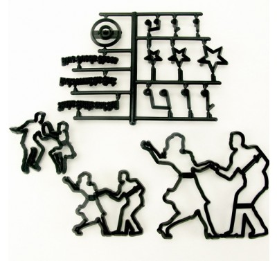 Patchwork Cutters Jive Dancers (Silhouettes)
