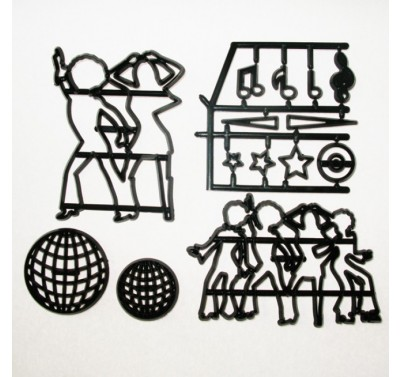 Patchwork Cutters Disco Dancers (Silhouettes)