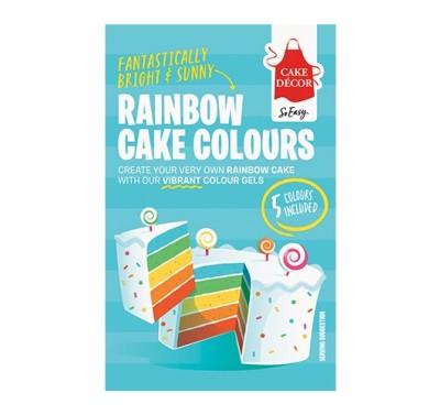 Cake Décor Rainbow Cake Colours - regenboogtaart kleuren kit