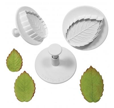 PME Veined Rose Leaf plunger cutter Set XL