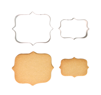 PME Cookie & Cake Plaque Style 1 Cutter (Set/2)
