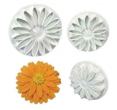 PME Veined Sunflower/Daisy/Gerbera Plunger Cutter set