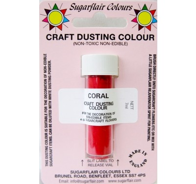 Sugarflair Craft Dusting Colour Non-Edible - Coral