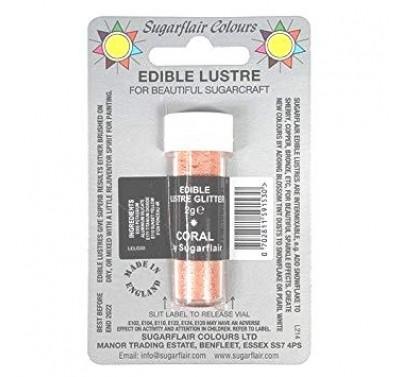 Sugarflair Edible Lustre Glitter - Coral