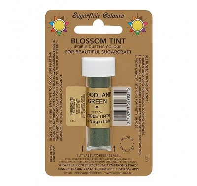 Sugarflair Blossom Tint Edible Dusting Colour - Woodland Green