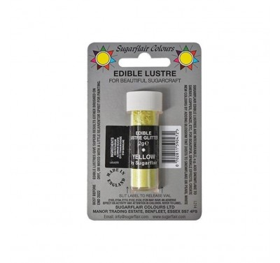 Sugarflair Edible Lustre Glitter - Yellow