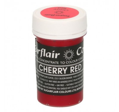 Sugarflair Pastel Cherry Red