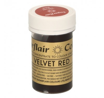 Sugarflair Spectral Velvet Red
