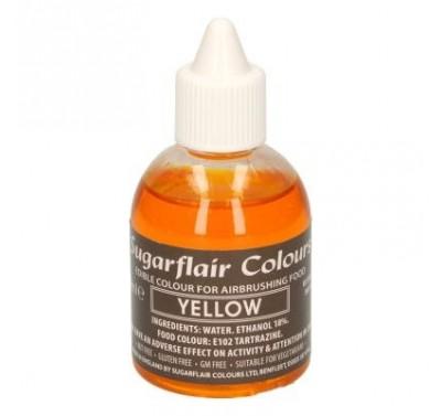 Sugarflair Airbrush Colouring -Yellow- 60ml