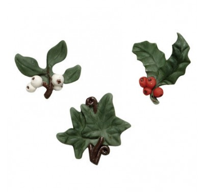 SK Great Impressions Mould Holly Ivy and Mistletoe