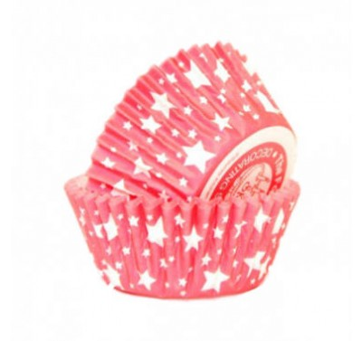 SK Ruby Red Star Cupcake Cases