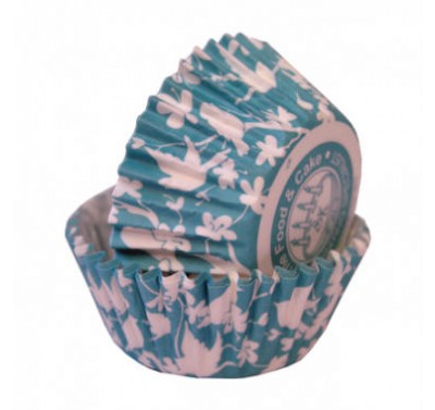 SK Teal Bird Cupcake Cases