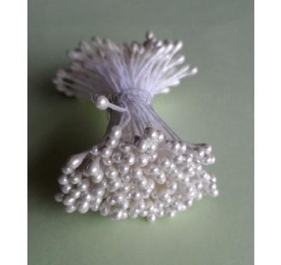 Stamens Medium Pearl White