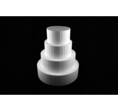 Styropor taart dummy Rond 12,5 cm - 10cm hoog