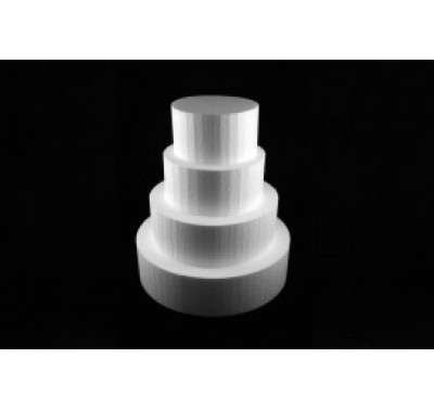 Styropor taart dummy Rond 20 cm - 10cm hoog